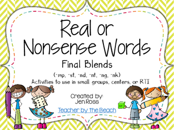 Real and Nonsense Words: Final Blends