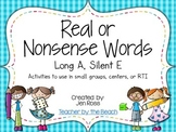 Real and Nonsense Words: Long A Silent E