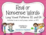 Real and Nonsense Words: Long E Patterns