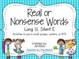 Real and Nonsense Words: Long U Silent E