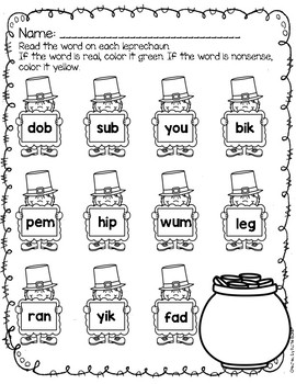 Real and Nonsense Words - March Edition