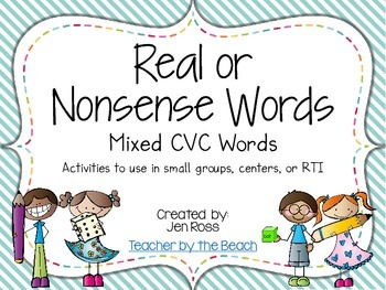Real and Nonsense Words: Mixed CVC