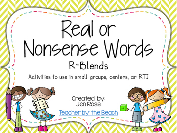 Real and Nonsense Words: R Blends
