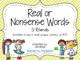 Real and Nonsense Words: S Blends