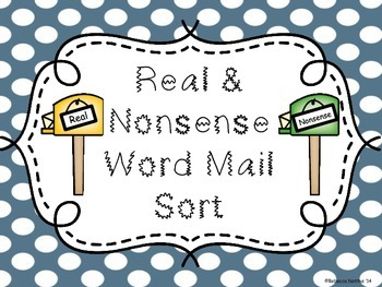 Real and Nonsense Words Sort