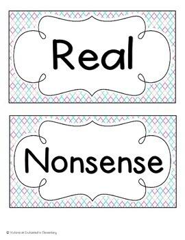 Real and Nonsense Words Sorts