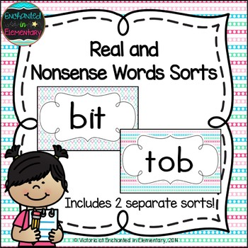 Real and Nonsense Words Sorts