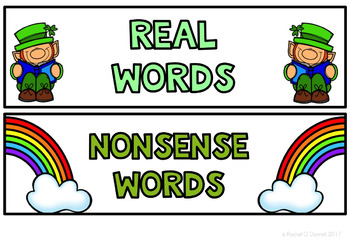 Real and Nonsense Words St Patrick's Day