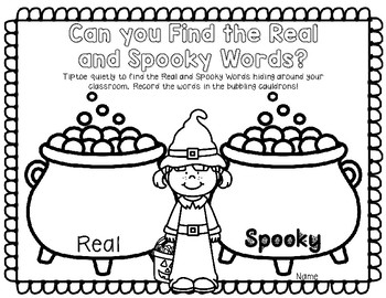 Real and Nonsense Words -With A Spooky Halloween Twist