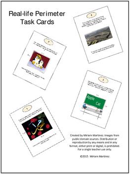 Real life Perimeter Task Cards.