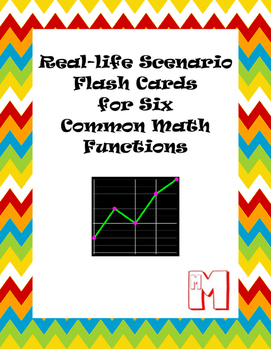 Real-life Scenario Flash Cards to Match to Six Common Math