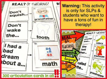 Real OR Ridiculous? {a speech and language game}