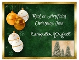 Christmas Tree Shopping Activity - PowerPoint & Excel or Google Slides & Sheets