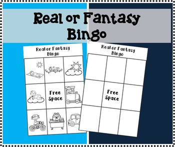 Real or Fantasy Bingo