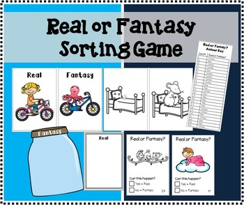 Real or Fantasy Picture Sorting Game