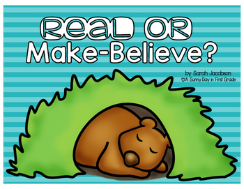 Real or Make-Believe Bear {freebie!}