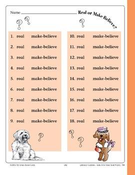 Real or Make-Believe? (File Folder Center)