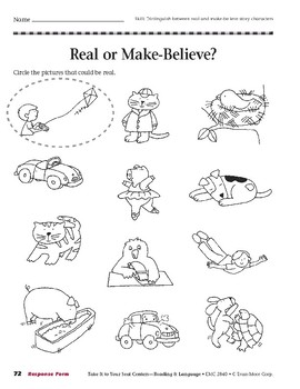 Real or Make-Believe? (Take It to Your Seat Centers)