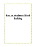 Real or NonSense Word Building