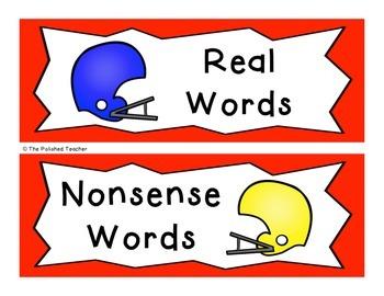 Real or Nonsense? A Superbowl CVC Sorting Activity