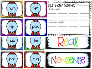 Real or Nonsense Words? Printables and Games for Practicing CVC Words!