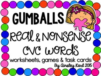 Real or Nonsense Words? Printables and Games for Practicin