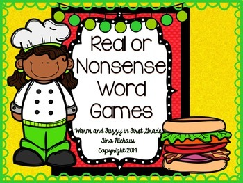 Real or Nonsense Word Games