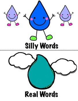 Real or Nonsense Words- A Rainy Day Sort