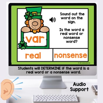 Real or Nonsense Words Boom Cards March