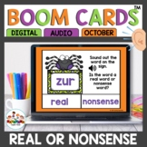 Real or Nonsense Words October Themed