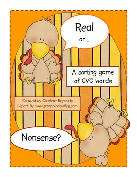 Real or Nonsense Words? Turkey Theme