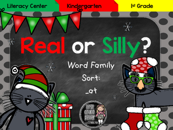 Real or Silly? Word Family Sort: _at {Holiday}
