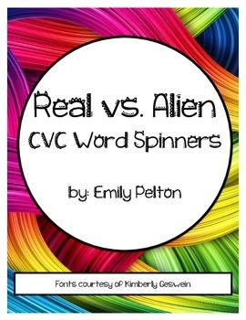 Real vs. Alien CVC Word Spinners