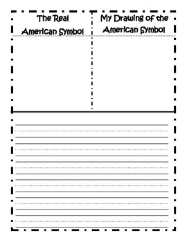 Real vs. Drawing Writing Activity for American Symbols/Monuments