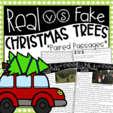 Real vs. Fake Christmas Trees {Paired Passages, Writing Prompt, and Craftivity}