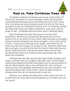 Real vs. Fake  ChristmasTree Comprehension