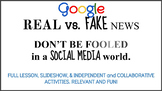 Real vs. Fake News! How to be informed in a world of SOCIAL MEDIA NEWS! Google