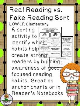 "Real Reading vs.""Fake Reading"" Sort"