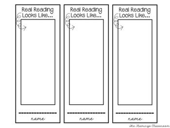 Real vs. Fake Reading   Student Designable Bookmarks