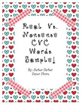 Real vs Nonsense CVC Hearts Freebie