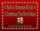 Real vs. Nonsense CVC Words: A Christmas Tree Game