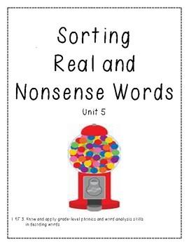 Real vs. Nonsense Word Decoding Practice 5