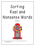 Real vs. Nonsense Word Decoding Practice 6