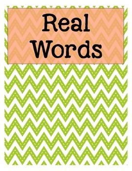 Real vs. Nonsense Word Sort & Activites