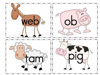 Real vs. Nonsense Words Sort (Farm Theme)