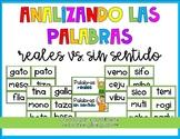 Real vs. Nonsense Words in Spanish