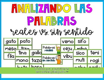Real vs. Nonsense Words in Spanish