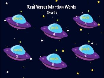 short e - Real vs Nonsense words