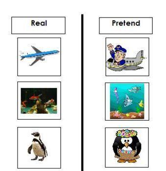 Real vs. Pretend Activities- Autism ABA