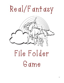 Real/Fantasy Matching File Folder Game